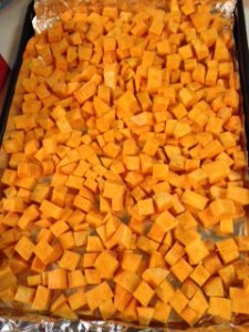 Cubed and ready to be roasted!  (From tonight's dinner.)